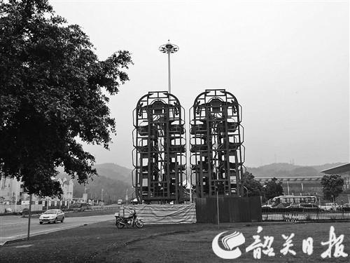 韶关高铁站新建两座立体车库