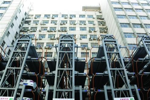 济南市中心建大型立体车库
